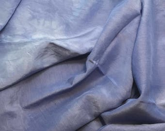 "Periwinkle Blue - Hand Dyed Silk/ Cotton Habotai - 18""x27"""