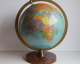 1950s Replogle 12 Inch Reference Globe / Legend