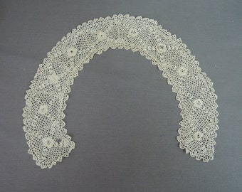 Antique Crochet Collar for Blouse or Dress, 15 inches, Edwardian