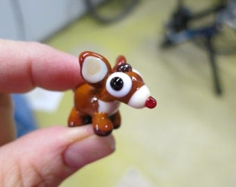 Roger the Red-Nosed Reindeer Lampwork Bead