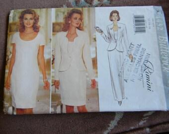 Vintage Butterick Misses Dress and Jacket Pattern #4432 Uncut