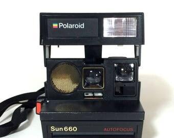 Polaroid Sun 660 AUTOFOCUS Instant Camera  - Tested, Working