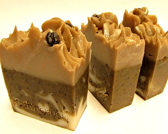 Mocha Java - Handmade Artisan Soap with Olive Oil & Shea Butter, Gourmet Soap, Soothing Suds Handmade Soap