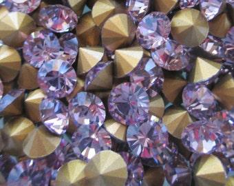 24pc 24ss Light Amethyst Art 1012 Brillion Vintage Swarovski Light Amethyst Chatons 5mm Light Amethyst 24ss ss24 Article 1012 5mm Brillion