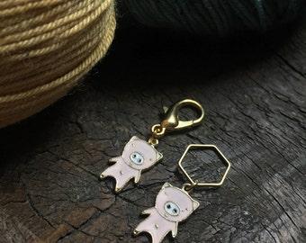 Pink Pig Knitting Stitch Marker / Progress Keeper
