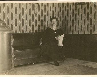 2 Vintage Girl On The Train Photographs