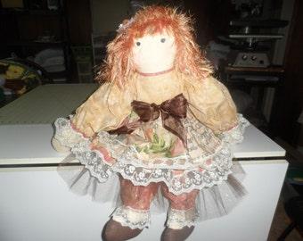 "suzy innocence of autumn rag doll 28"" ooak handmade doll"