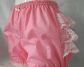 Pink micro mini sweet lolita fairy kei bloomers adult--small to plus size