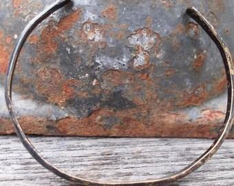 8th Anniversary Gift, Men's Cuff Bracelet, Oxidized Bronze, Unisex Cuff, Men's Jewelry, Bronze Gift for Him,Rustic Jewelry
