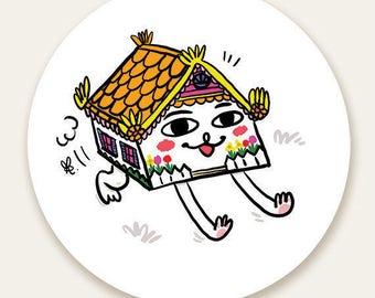 """Puppy House 3"""" Vinyl Sticker"""