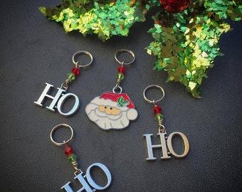 Santa is my HoHoHomie! Set of 4 Santa Claus Christmas Stitch Markers