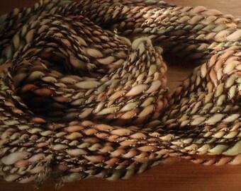 Guinevere II - 6 oz 100 yards - handspun art yarn superfine handpainted merino, handdyd kid mohair silk nylon acrylic