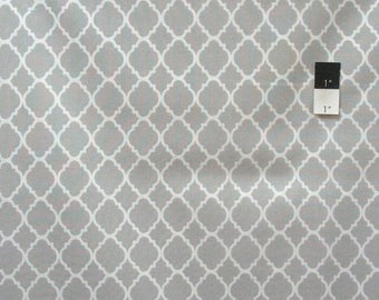 SALE Quatrefoil Grey Quilting Cotton Fabric By Yard
