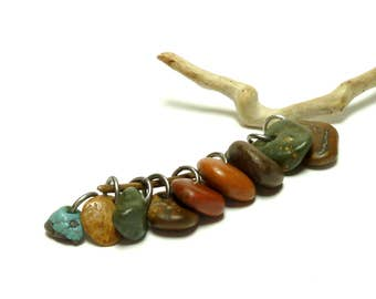 Genuine Drilled Beach Stones ROCK CANDY Fossils Slag Glass Drilled Pebbles Sea Salty Collection Natural Earthy Jewelry Bead Mix