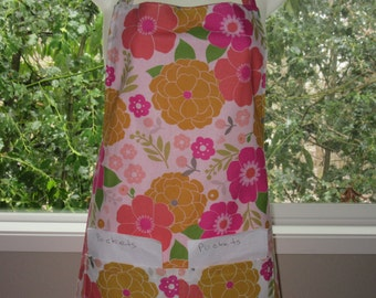 womens aprons - aprons for women - bright floral