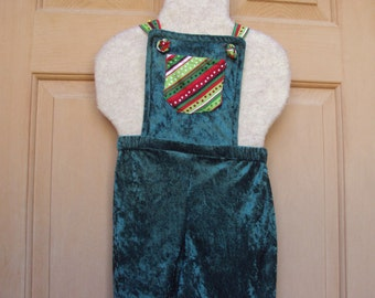Green Christmas romper, childrens size, Elf romper, Christmas elf, Christmas costume