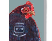 Chicken metal sign 8x12 fresh organic eggs happy chickens garden decoration wall art indoor outdoor