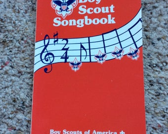 BOY SCOUT SONGBOOK 1989 vintage , 1970 copyright, collectible, scouting, singing