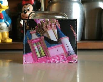 Sleeping Beauty's Castle Disneyland Map Mini Wallet