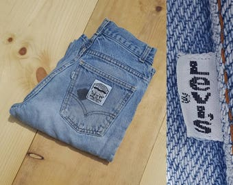 "Vintage LEVI'S Jeans  //  Vtg 70s 80s Made in the USA Distressed Faded Trashed Slim Fit Levi Jeans w/ Holes //  26"" waist"