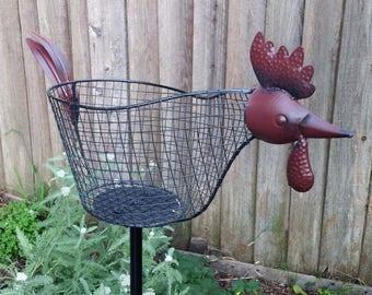 Yard Art - Chicken Basket