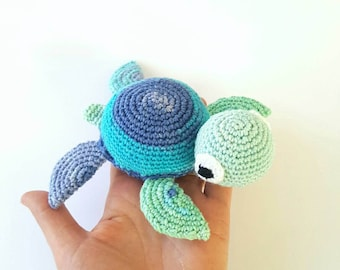 Natural toy, Child Friendly toy, Crocheted Cotton Amigurumi Turtle, turtle plushie, turtle plush, cotton turtle ,ooak, waldrof toys,nursery,