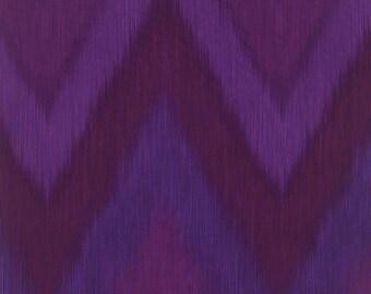 Ikat Plum Stripes Timeless Treasures Fabric 1 yard