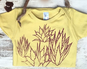 Yellow Organic Agaves Onesie