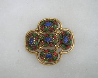Vintage Sarah Coventry Colorful Brooch Pin