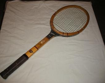 Vintage Wilson Tony Trabert Stylist Wooden Tennis Racket Racquet Man Cave Sports Decoration Decor