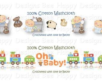 PDF Landscape Version BABIES Wrapper Set - Baby Shower, Gift Tag, Label