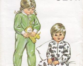 Vintage Pattern Kwik Sew 1283 Toddlers' Sleeper 80s Size T1 to T4 UNCUT