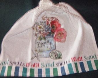 Crochet Kitchen Hanging Towe Kay Dee Design Jar of flowers, sea words