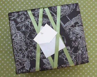Botanical Bliss Gift Wrap - Black or Orchid with Silver Ink!