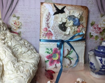 Vintage Shabby Chic Style Journal Diary Mother's Day Bride Graduate Gift