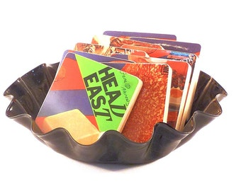 Head East recycled A Different Kind of Crazy album cover wood coasters with warped record bowl