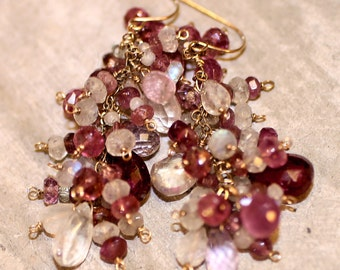 Fresh And Sparkly Spinel Gemstone Earrings