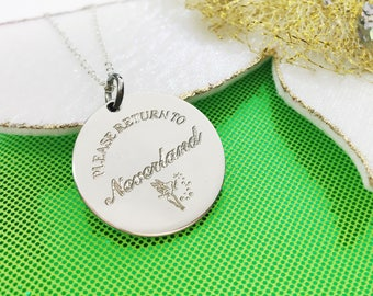 Please Return To - Sterling Silver - Neverland - Peter Pan Jewelry