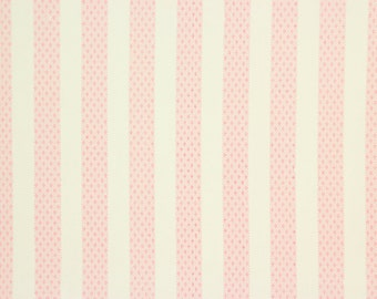 1960s Vintage Wallpaper Pink and White Stripe