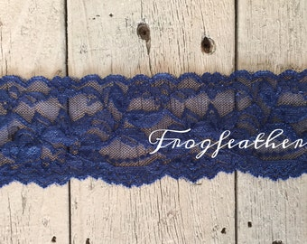 STRETCH Lace  NAVY BLUE no. 399-2 inch -2 yards for 2.99