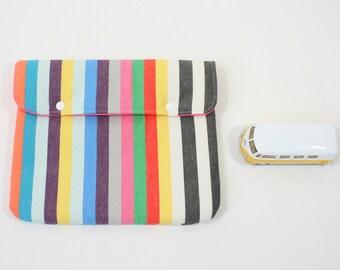 Mini iPad case in Stripes gadget holder
