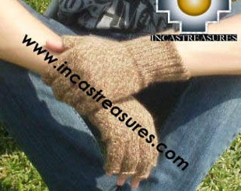 100% Alpaca Wool Fingerless Gloves Uma, buy ONE get TWO