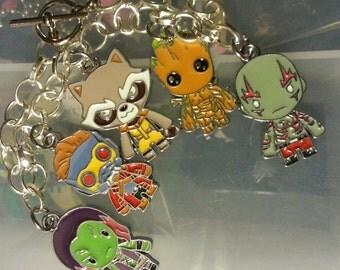 Galaxy Guardians Groot Rocket Star lord Gamora Drax bracelet