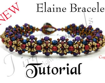 KR037 TUTORIAL -Elaine Bracelet - Color Kit - Instructions Included, Beadweaving Pattern Instructions