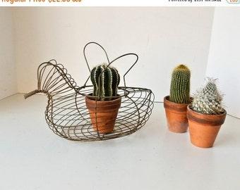 Sale Wire Chicken Basket, Wire Egg Basket, Vintage Wire Egg Basket, Antique Wire Basket
