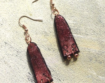 Cryptic dangles upcycled acrylic paint in autumn colors