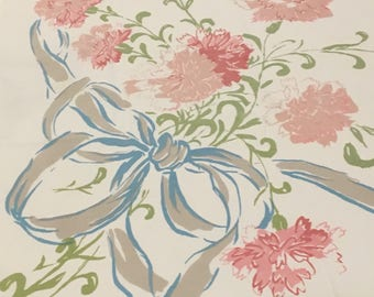 Vintage Bows and Carnations Tablecloth