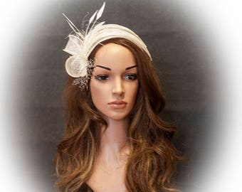 White fascinator for your special occasions- New style for S/S 2017 events