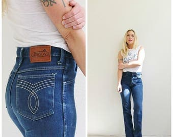 1970s Stetson Straight Leg Jeans /// Size Extra Small