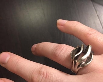 Modernist Silver Ring size 7.5